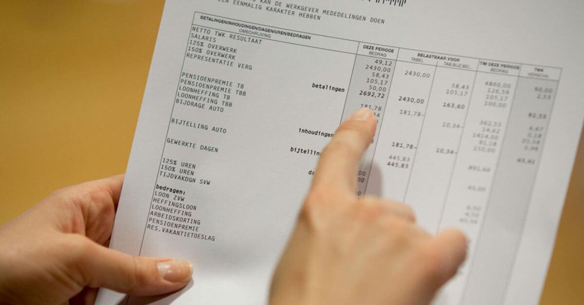 De loonstrook 5 punten waarop het vaak mis gaat
